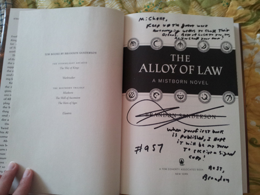 The Alloy of Law - autographed!