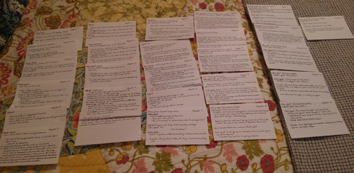 Notecards! Outlines! Plotting!