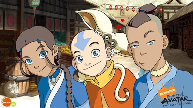 Katara, Aang, Momo and Sokka - Team Avatar
