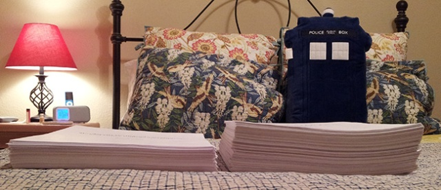 Novel drafts. MG is so much shorter than I thought it would be.