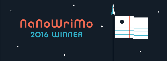 NaNoWriMo 2016 Winner's Banner - space-themed